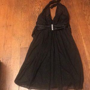 Black glitter party dress